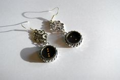 Typewriter Key Earrings   Color and Semi Colon by JustWearThese, $18.00