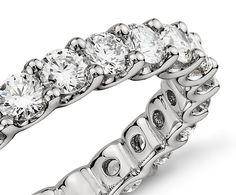 U-Prong Eternity Diamond Ring in Platinum (2 ct. tw.)   Blue Nile