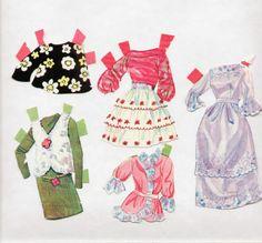 Whitman/Mattel BARBIE paper dolls 1969 MOD-ERA-Talking Barbie