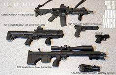 Modern War (1990s to Present) 1/6 Kel-Tec_KSG_Shotgun_Oleg_Volk custom build for John Wick