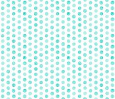 boppy slip cover: watercolor turquoise dots // by iviebaby on Etsy