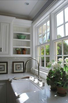 great window and open shelve - Homes Interior Designs