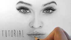 Tutorial   How to shade and draw realistic eyes, nose and lips with grap...