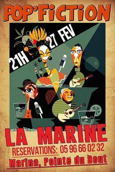 Pop Fiction Vous aussi intégrez vos événements dans l'Agenda des Sorties de www.bellemartinique.com C'est GRATUIT !  #martinique #Antilles #domtom #outremer #concert #agenda #sortie #soiree