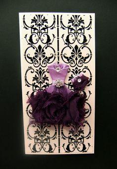 Rebecca Personalized Dress Card / DL Size / Handmade by BSylvar