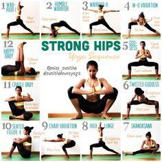 Strong hip yoga sequence to start your year strong! @miss_sunitha #sunithalovesyoga