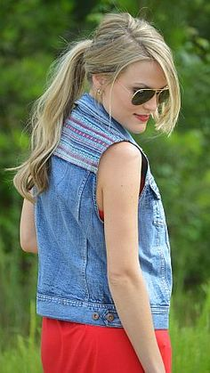 All the cool kids are wearing denim vests! $46 at shopbluedoor.com