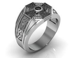 Celtic Cross Ring Men's Sterling Silver by Majesticjewelry99