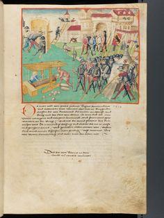 Bern, Burgerbibliothek, Mss.h.h.I.1, f. 73 – Diebold Schilling, Amtliche Berner Chronik, vol. 1