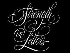 Lettering Design, Branding Design, Cool Typography, Job Opening, Strength, Letters, Sayings, Lyrics, Letter