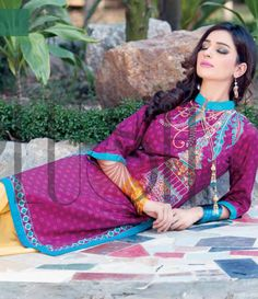 Plush Embroidered Kurtis Eid Collection by Riaz Arts EK_31