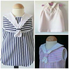 Romper or Dress PDF Pattern boys or girls mod. Navy sizes 6m - 3 years  https://www.etsy.com/listing/278104268/girl-or-boy-romper-easy-pdf-pattern-mod?ref=shop_home_active_1  Patrón PDF Vestido o Ranita estilo marinero  http://www.coloursforbaby.com/p1592711-vestido-o-ranita-estilo-marinero.html  #sew #sewing #patterns #pdf #patternmaking #girl #boy #romper #patrones