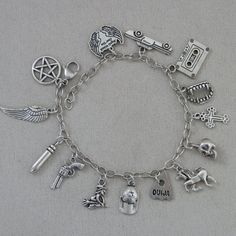 Charm Bracelet Supernatural inspired Tibetan by ImpossibleAlice, $36.00