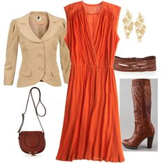 Loving the orange and pseudo cowboy boots!! :-)