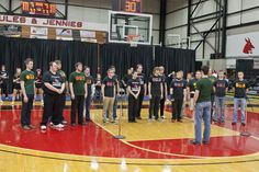 Singing the National Anthem for #TeamUCM