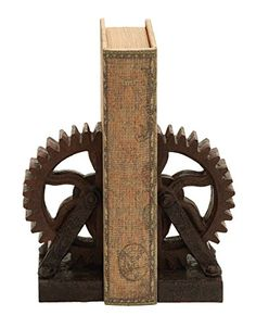 Deco 79 Poly-Stone Gear Bookend, 7 by 5-Inch, Set of 2 Deco 79 http://www.amazon.com/dp/B009D4USY2/ref=cm_sw_r_pi_dp_41ylvb1J4SPTD