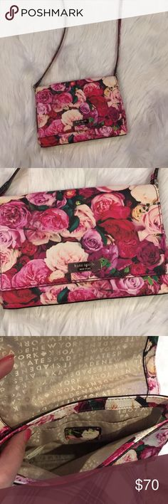 Kates spade floral purse Kate spade floral purse very cute used once kate spade Bags Shoulder Bags