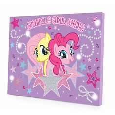 My Little Pony LED Canvas Wall Art: Bedding & Decor : Walmart.com