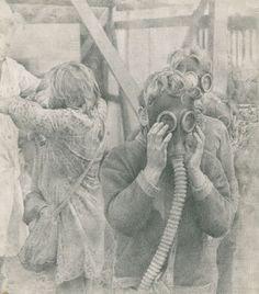 Gas ! 1985  Graphite pencil on paper 16 × 14 cm. #GasMask #pencil #hyperrealism #drawing #YuriYudaev HYPERREALISM / FIGURATIVE COMPOSITIONS