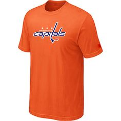 NHL Washington Capitals Big & Tall Logo T-Shirt - Orange