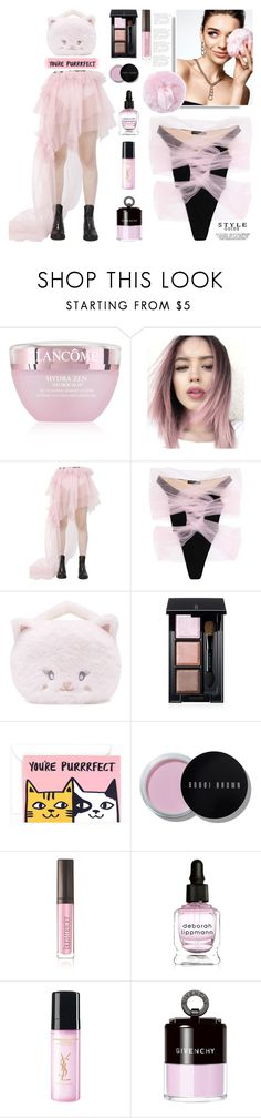 """""""Ballerina Makeup Bag"""" by yours-styling-best-friend ❤ liked on Polyvore featuring Lancôme, Rolling Acid, Y/Project, KAROLINA, Forever 21, SUQQU, Bobbi Brown Cosmetics, Laura Mercier, Deborah Lippmann and Yves Saint Laurent"""
