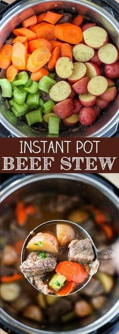 Instant Pot Beef Stew Beef Stew is the ultimate cold weather comfort food and the Instant Pot lets you have a delicious homemade beef stew in less than an hour. This Instant Pot Beef Stew recipe is sure to become a family favorite. Pressure Cooker Beef Stew, Instant Pot Pressure Cooker, Pressure Cooking, Instant Cooker, Pressure Pot, Pressure Cooker Soup Recipes, Instant Pot Beef Stew Recipe, Recipe Stew, Recipe Recipe