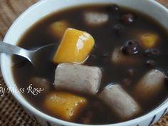 Redbeans with Taro n Sweet Potatoes chewy balls - 红豆芋圓蕃薯圓甜汤