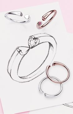 Symbolising the meeting of two hearts, this innovative new open ring features two contrasting hearts point to point.  Give it to a loved one this Valentine's Day in classic sterling silver or ravishing blush pink PANDORA Rose.