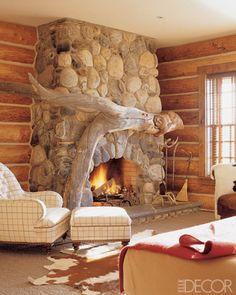 A Driftwood Fireplace.