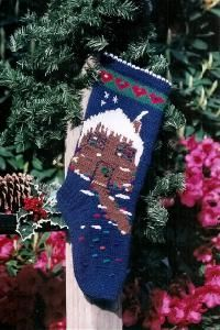 Sarah James XMAS 803 Knit Gingerbread House Sarah James, Christmas Knitting, Knit Or Crochet, Christmas Stockings, Gingerbread, Crochet Patterns, Xmas, Holiday Decor, Projects