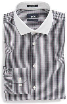 8d110a3e7 Shirt Dress Pattern, Collar Top, Check Dress, Contrast Collar, Slim Fit Dress  Shirts, Tights, Dark, Nordstrom, Collars