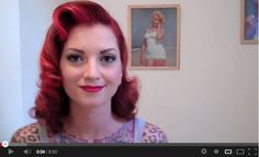 Vintage hair tutorials: 1950s curly hair tutorial - Marilyn Monroe