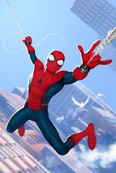 Spider-Man Homecoming, David Nakayama on ArtStation at https://www.artstation.com/artwork/8a33R