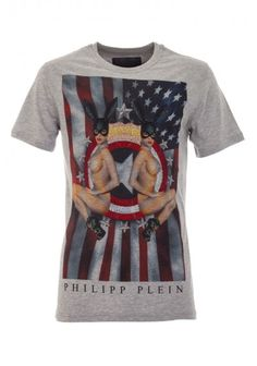 Philipp Plein | 'American Ladies' T-Shirt Grey | BOUDI, 98 New Bond St. London W1S 1SN, United Kingdom | www.boudi.co.uk