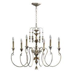 Quorum International 6006-6-70 6 Light Salento Chandelier, Persian White - ATG Stores-bedroom??