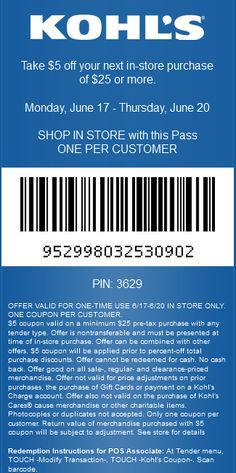 kohls $5 off coupon code