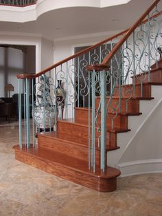 This Staircase Design Was Created Using Scroll Series Spiraled Scroll  Balusters (16.1.25)