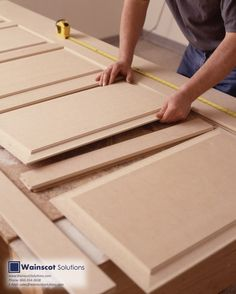 Wainscoting is all hand crafted and assembled for the best of quality. Visit our website at: http://www.wainscotsolutions.com/