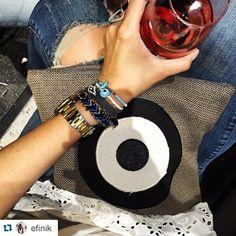 """Οur grey """"evil eye"""" clutch  it's the perfect choice  for you cozy  and flawless outfits! SS 2015"""