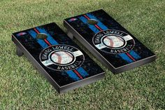 UMass Lowell River Hawks Classic Baseball Logo Cornhole Set