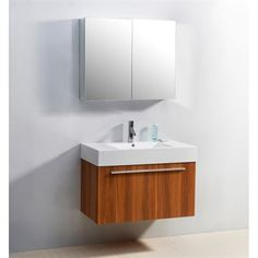 "Virtu USA 36"" Midori Single Sink Bathroom Vanity with Polymarble Countertop - Plum"