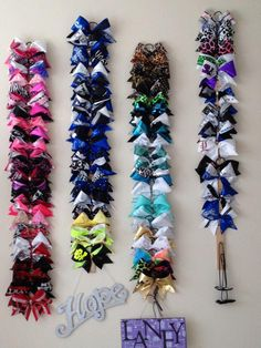 l-e-t-s-cheer: Laney's wall of bows <3 (via imgTumble)