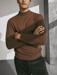 MASSIMO DUTTI Cotton//silk sweater with elbow patches SIZE XL BRAND NEW 2020