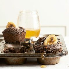 Recipe for Dark Cocoa Banana Muffins