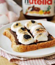Easy marshmallow dessert, chocolate-dipped marshmallow with toasted muesli