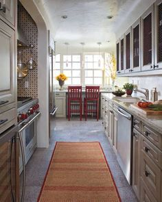Kitchen Remodeling at PointClickHome.com – Remodeling a Galley Kitchen - ELLE DECOR