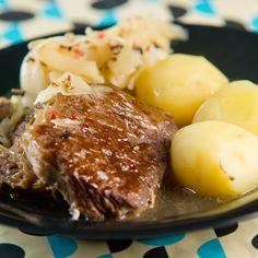 Egy finom Farikal (norvég káposztás bárányragu) ebédre vagy vacsorára? Farikal (norvég káposztás bárányragu) Receptek a Mindmegette.hu Recept gyűjteményében! Pork, Beef, Mariana, Meals, Kale Stir Fry, Meat, Pork Chops, Steak