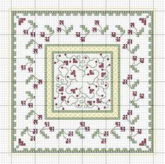 Freebie Biscornu Pattern - Other free patterns here, also.