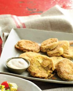 Fried Green Tomatoes....I have never had these but for some reason they look delicious to me. I NEED to try them!