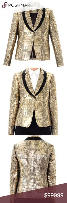 ISO Diane von Furstenberg Ofelia blazer in gold I'm looking for Diane von Furstenberg's Ofelia blazer in gold. I'm looking for preferably size 2, but size 4 may work. Diane von Furstenberg Jackets & Coats Blazers